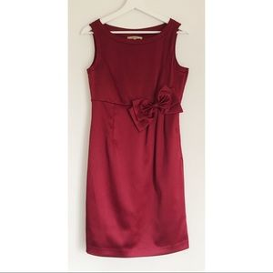 RW&CO Red Satin Holiday Cocktail Dress w/Bow